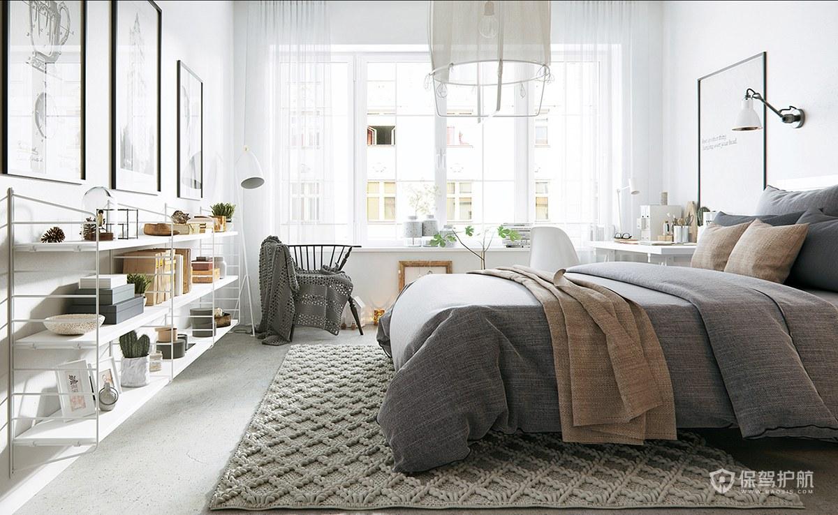 北欧风温馨卧室装修效果图
