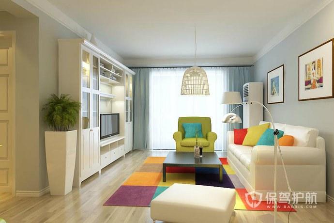 米兰风格小户型客厅装修效果图