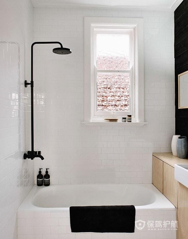 簡約北歐風黑色浴室裝修效果圖