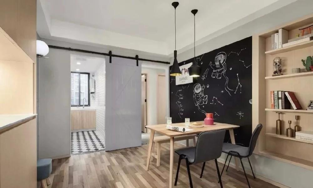 二居室極簡北歐風格裝修效果圖片