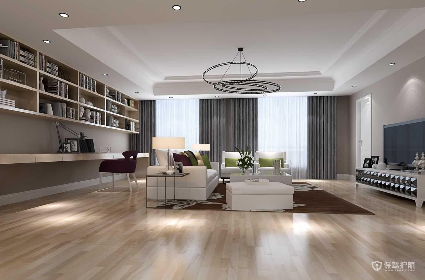 法式风格四室客厅装修实景图