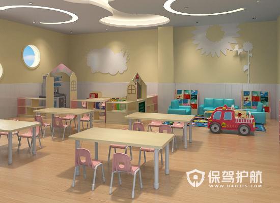 大型幼兒園活動室裝修效果圖