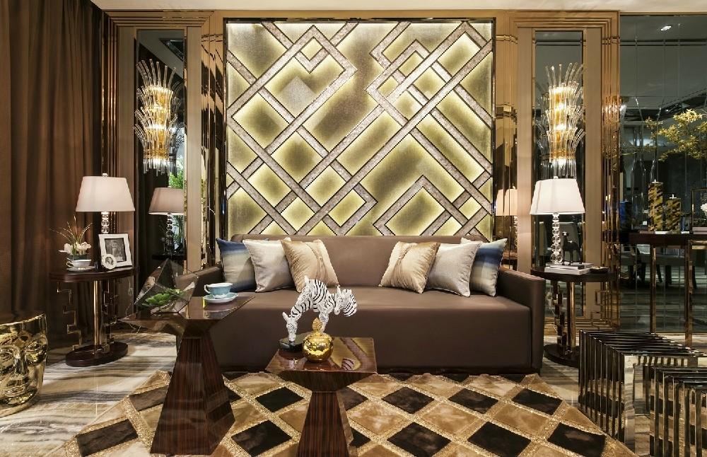 浪漫欧式风格二居室装修效果图