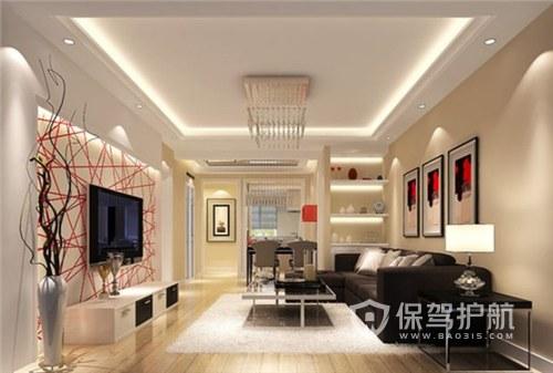 现代50平个性客厅装修实景图
