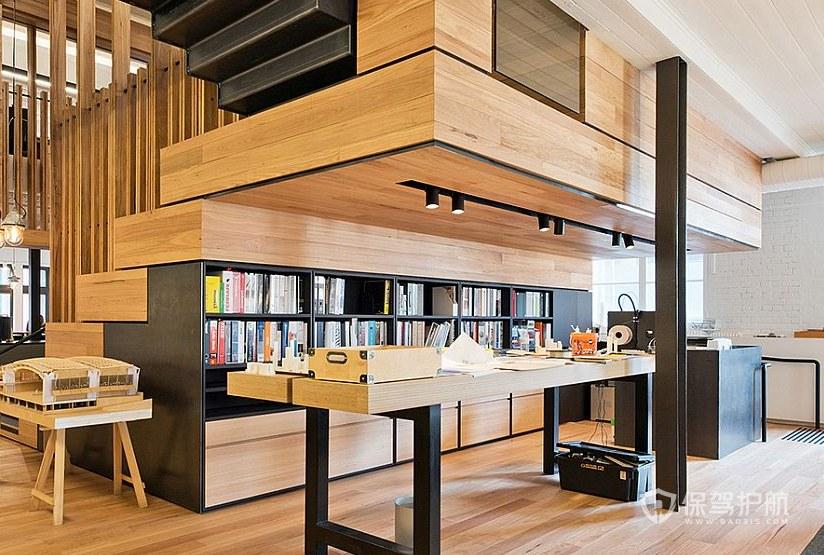 日式风格办公室阅读区装修效果图
