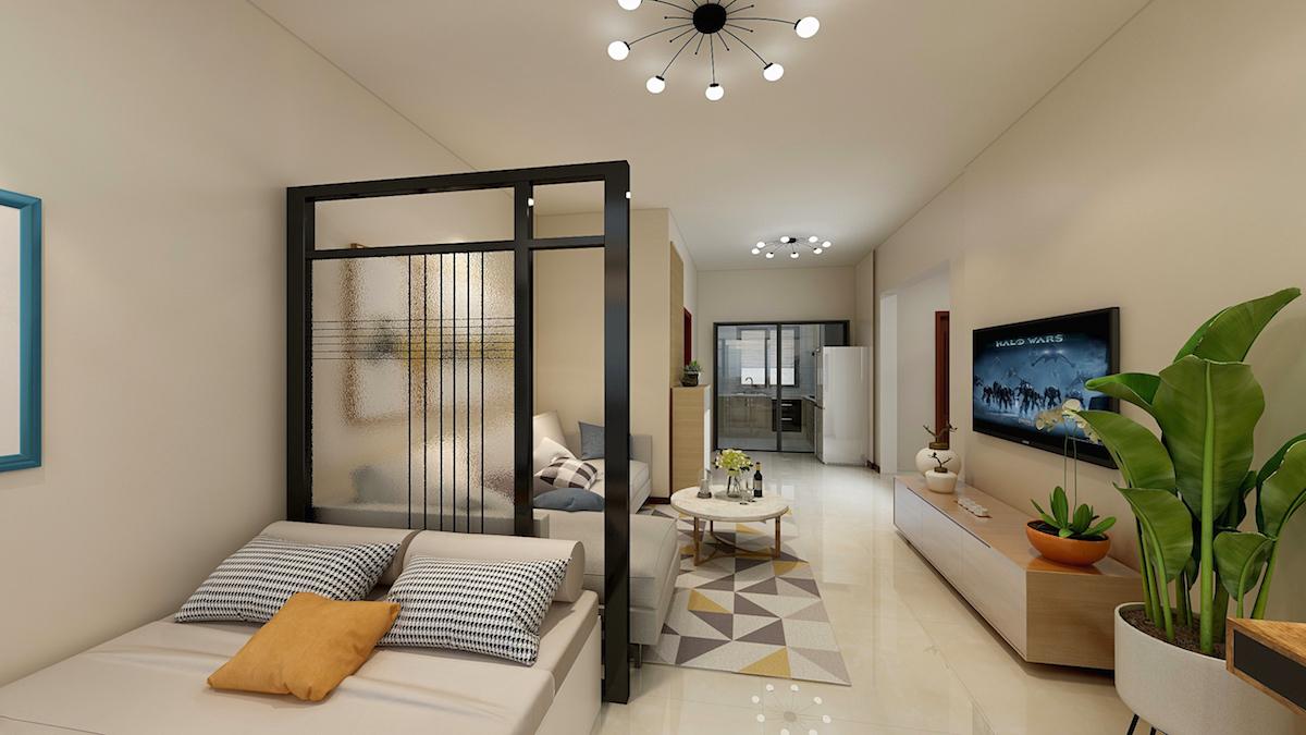 黄海小区78平二居室现代简约家装效果