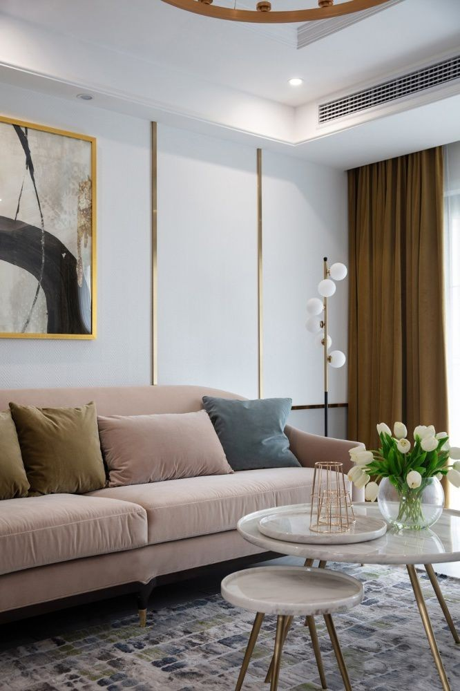 141㎡轻奢美式3室2厅装修效果图,卡座餐厅营造小资情调