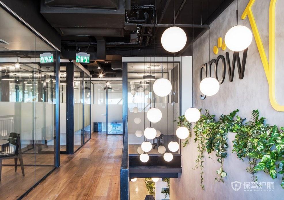 韩式小清新办公室隔断装修效果图