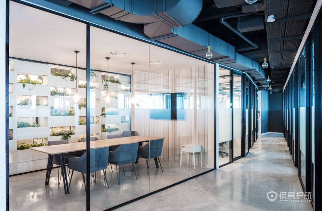 韩式小清新办公会议室装修效果图