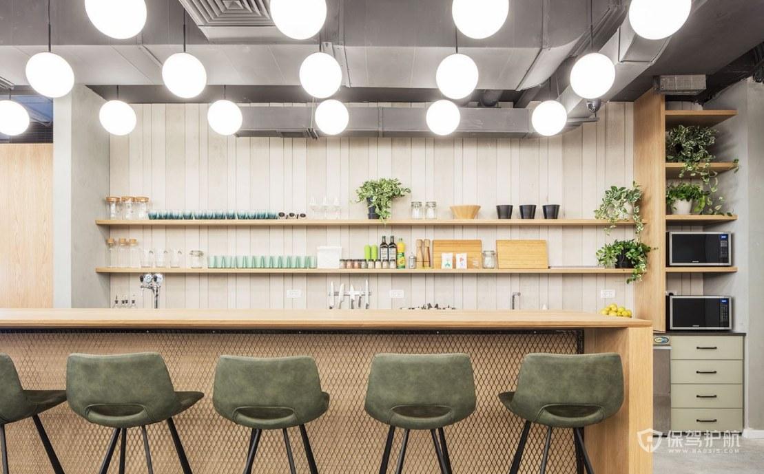 韩式小清新办公室茶水区装修效果图