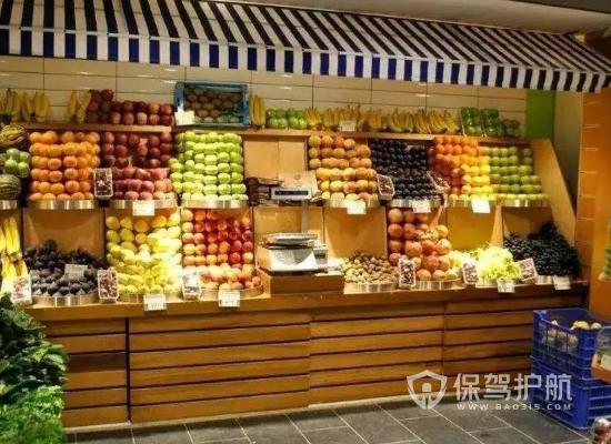 小型原木風水果店裝修效果圖