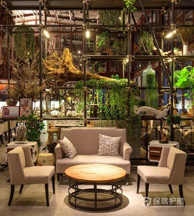 森林系餐厅装修效果图