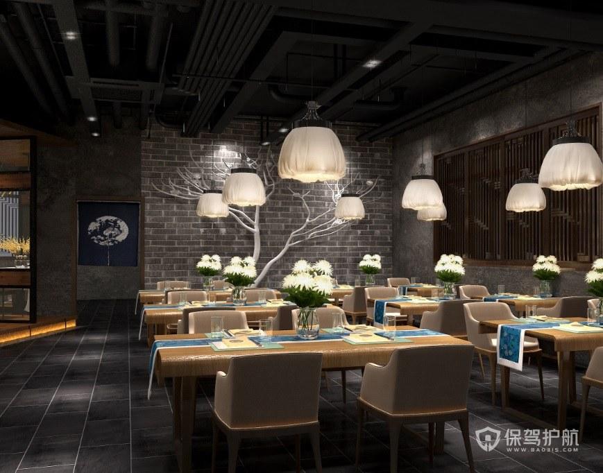 法式浪漫餐厅装修效果图