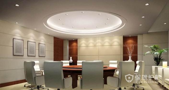现代圆桌会议室装修效果图