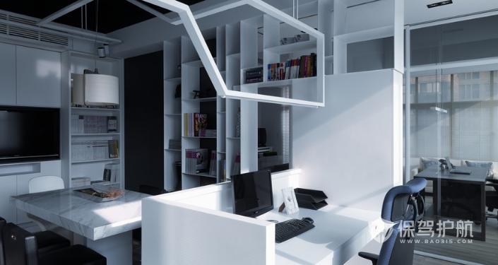 现代写字楼办公区装修效果图