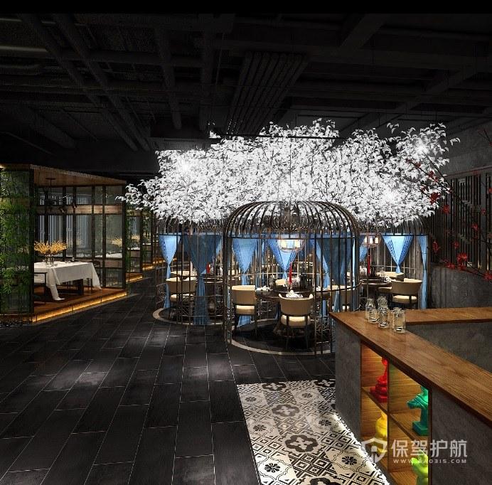 田园工业风餐厅装修效果图
