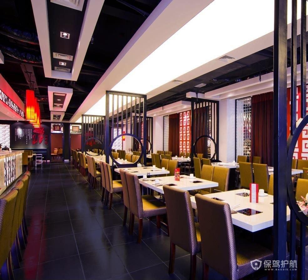 中式餐馆装修效果图-保驾护航装修网