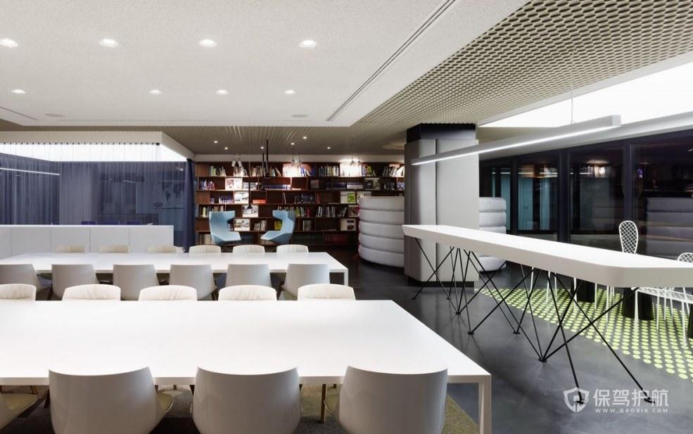 创意简欧公司就餐休闲区设计图