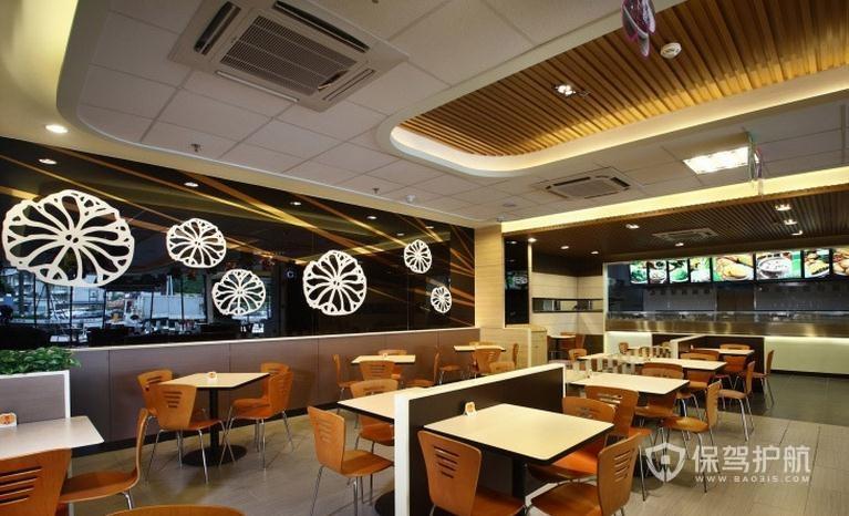 现代快餐店大厅装修效果图-保驾护航装修网