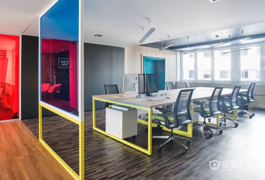 创意混搭办公会议室装修效果图