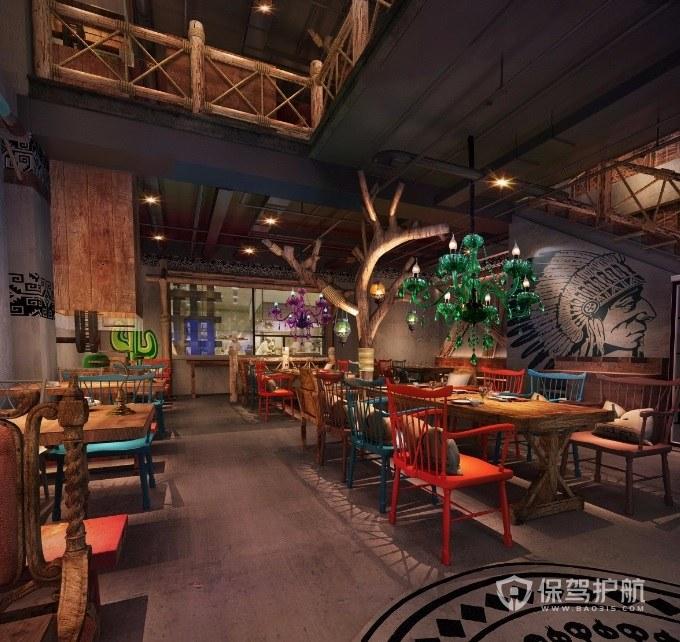 东南亚民族风餐厅装修效果图