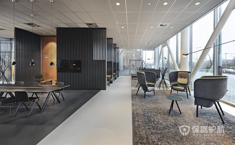 现代简约办公室休闲区装修效果图
