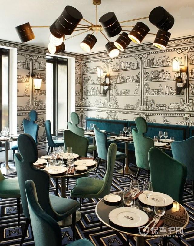 现代创意餐厅装修效果图