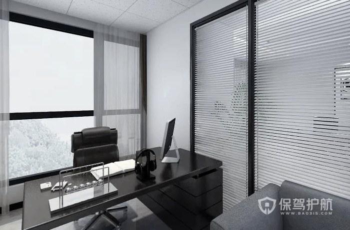 现代简约领导办公室装修效果图