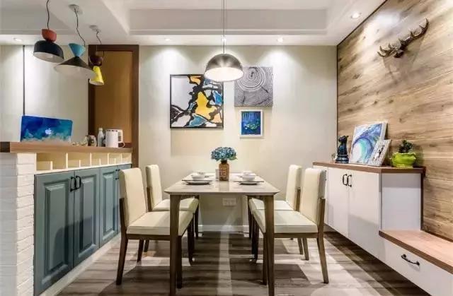 70平现代&北欧混搭两居室装修,这样的吧台隔断也太实用了吧!