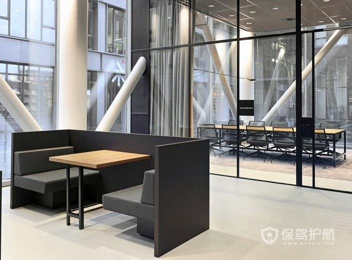 现代简约办公会议室装修效果图