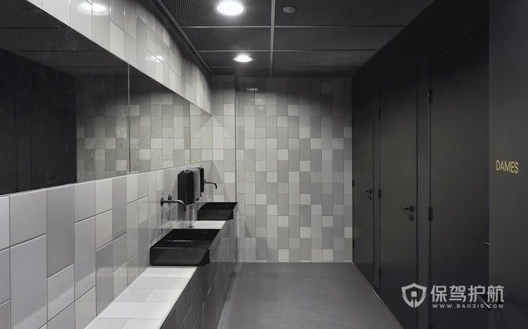 现代简约办公室卫生间装修效果图