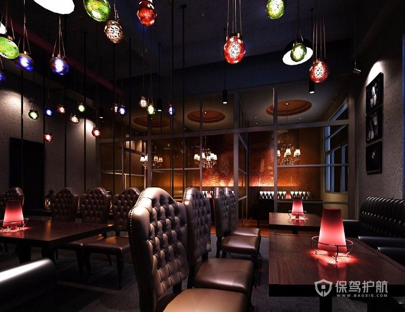 欧式复古餐厅装修效果图