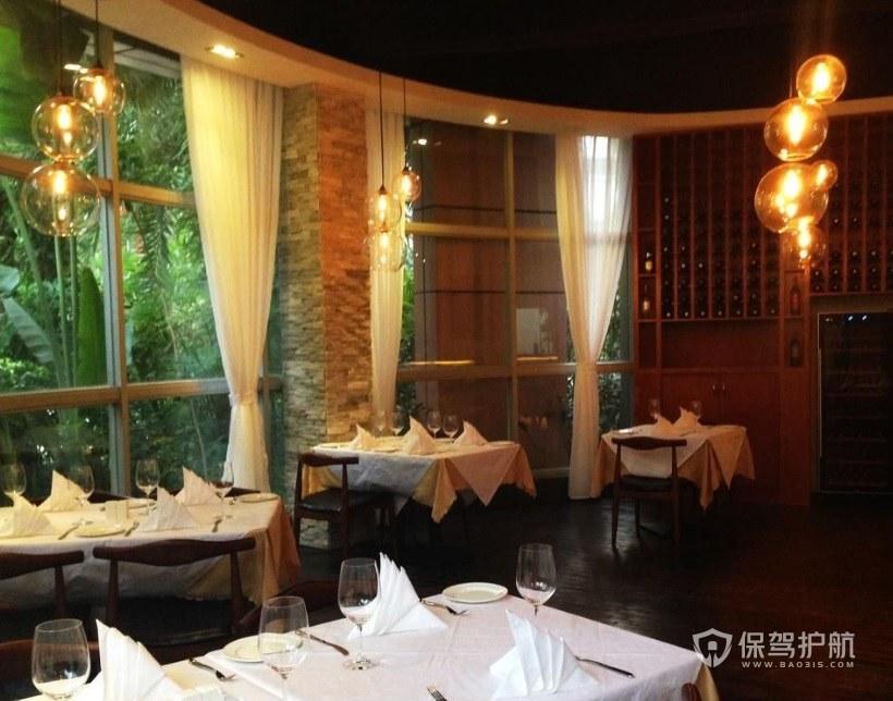 日式极简餐厅装修效果图