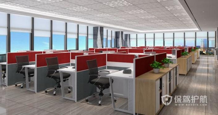 现代员工办公装修效果图