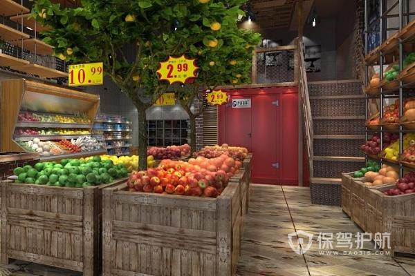 水果店的设计说明,水果店摆放效果图