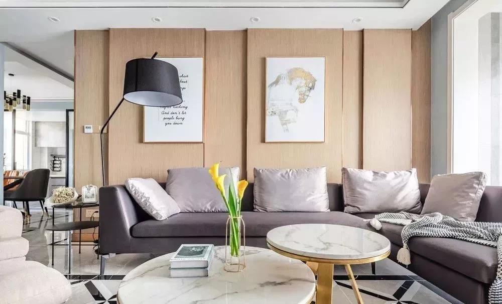 115㎡现代轻奢风格室内装修设计,不一样的空间感受
