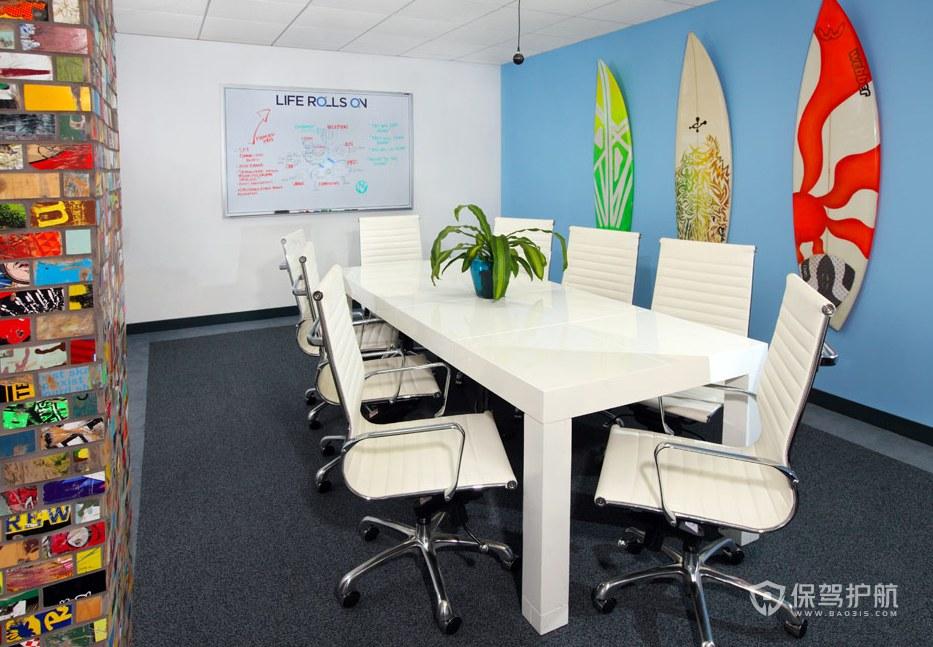 美式混搭办公会议室装修效果图