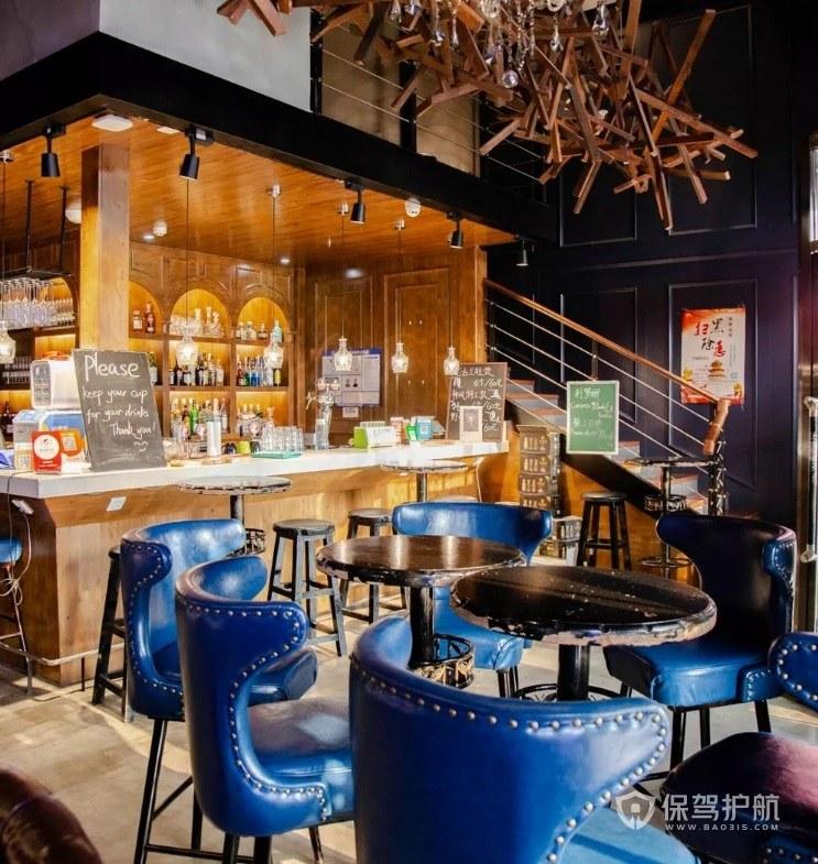现代美式餐厅装修效果图