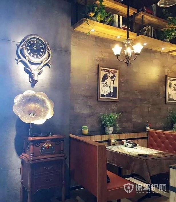 美式复古餐厅装修效果图