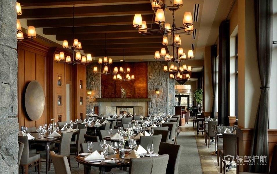 哥特式创意餐厅装修效果图