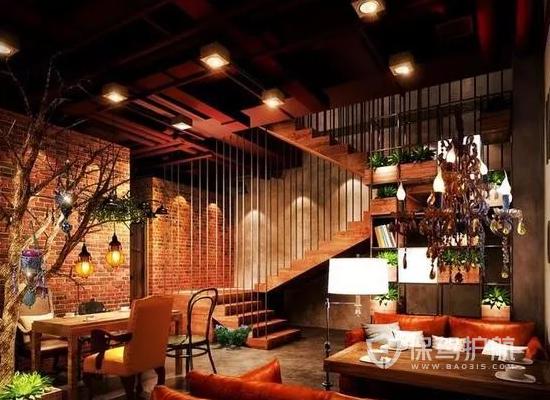 复古风格咖啡馆装修效果图
