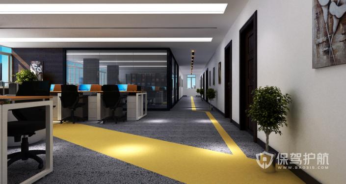 办公区走廊装修效果图