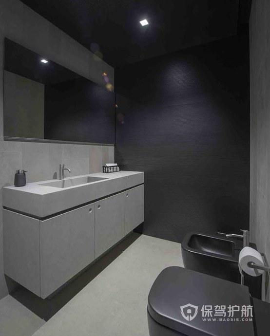 简洁主义办公室卫生间装修效果图