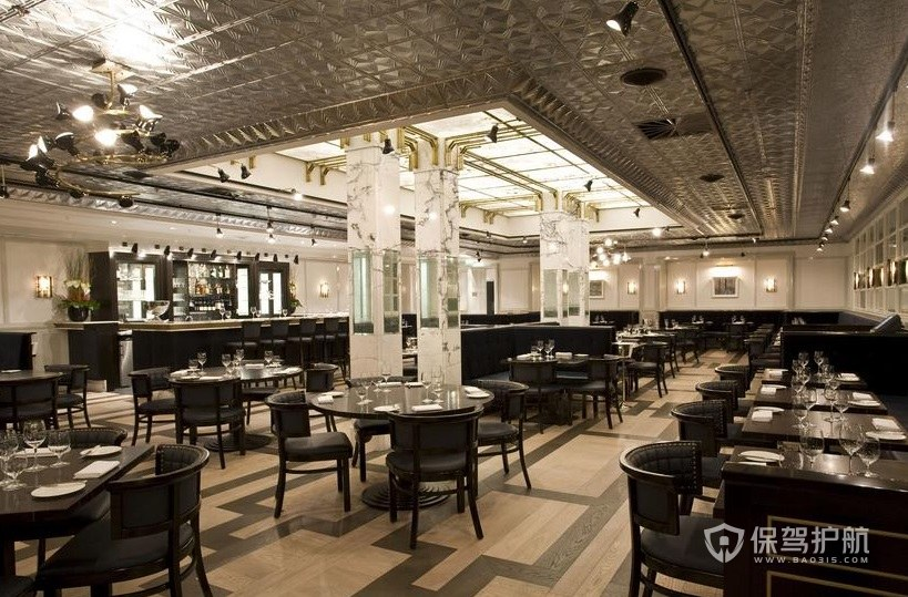 欧式轻奢西餐厅装修效果图
