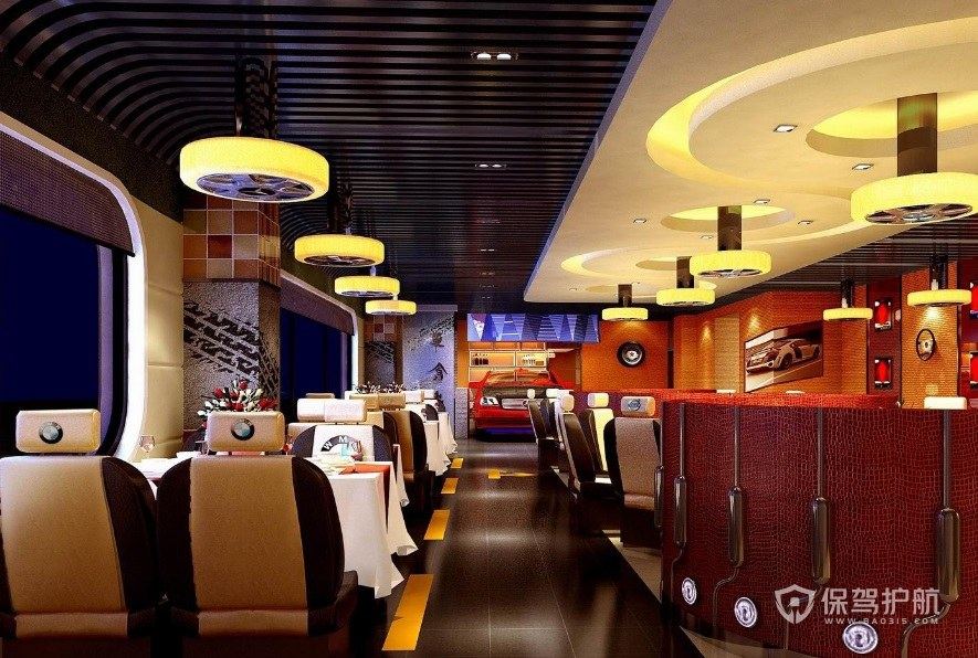 豪华欧式西餐厅装修效果图