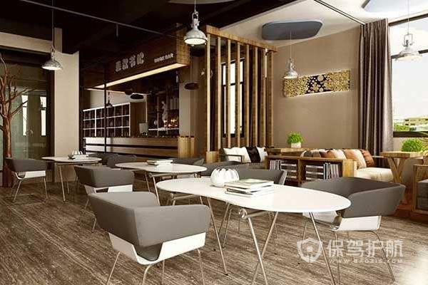 咖啡馆设计效果图-保驾护航装修网