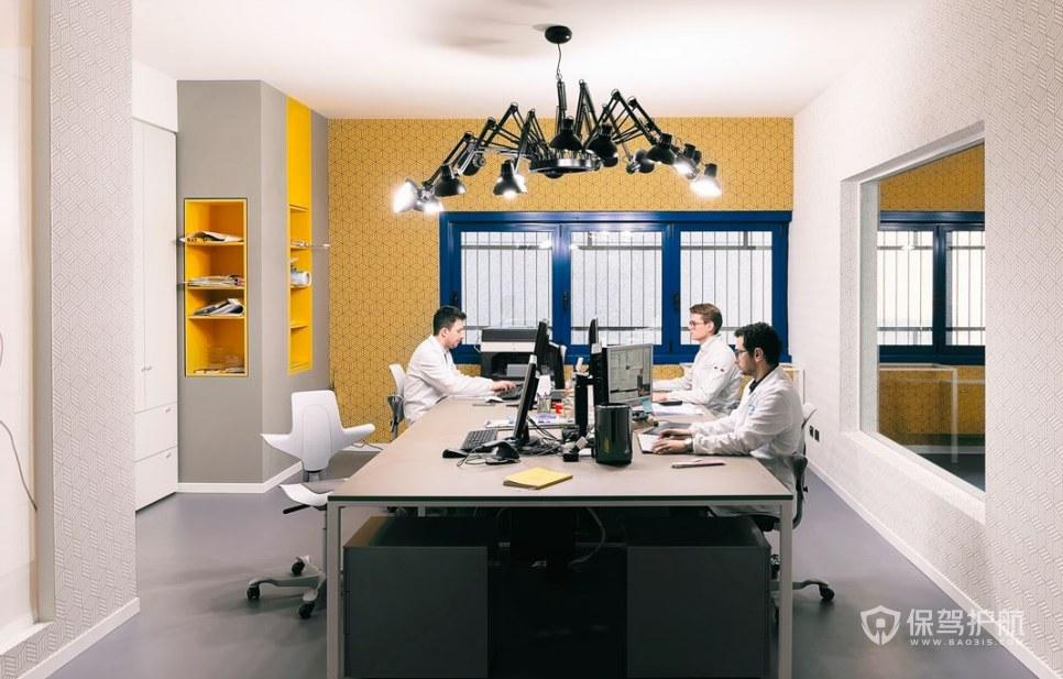 欧美办公室办公区装修效果图