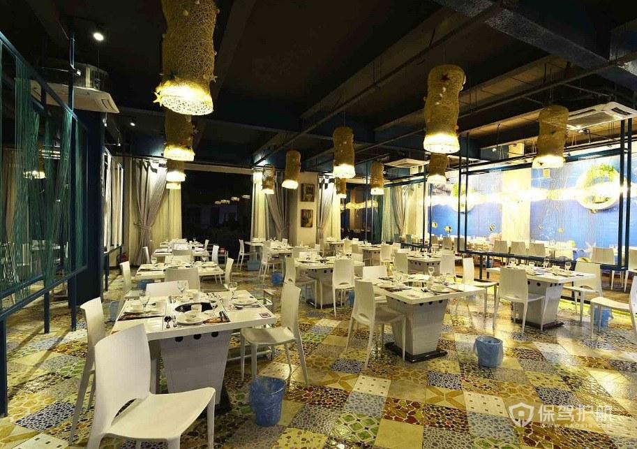 现代东南亚餐厅装修效果图