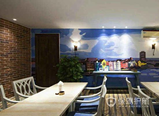 韩式风格咖啡馆装修效果图
