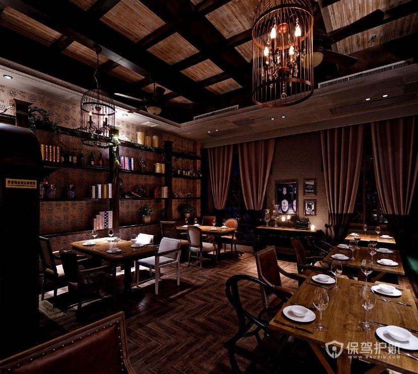 新古典中式餐厅装修效果图